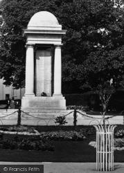 Taunton, Vivary Park War Memorial 1925