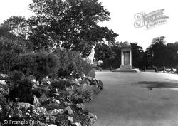 War Memorial, Vivary Park 1935, Taunton