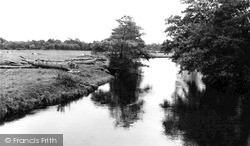Taverham, River Wensum From The Bridge c.1960