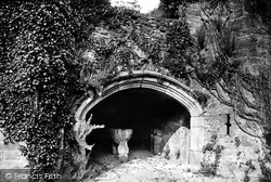 Tavistock, Betsy Grimbal's Tower Entrance And A Stone Coffin 1893