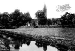 Tavistock, Fitzford Church And Drake's Statue 1893
