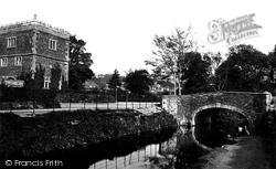 Tavistock, Fitzford House And Bridge c.1875