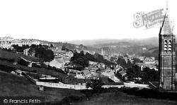 Tavistock, From Above Gas Works c.1875