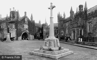 Tavistock, Guildhall Square and War Memorial 1922
