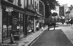 Tavistock, Shop In Duke Street 1910