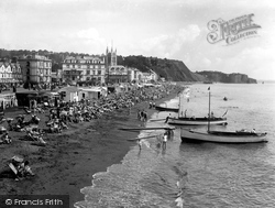 Teignmouth, Sands From Pier 1936