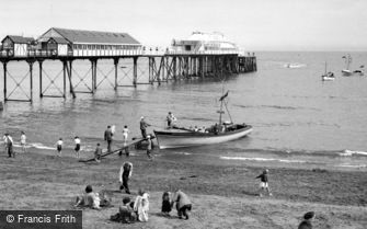 Teignmouth, the Pier 1954