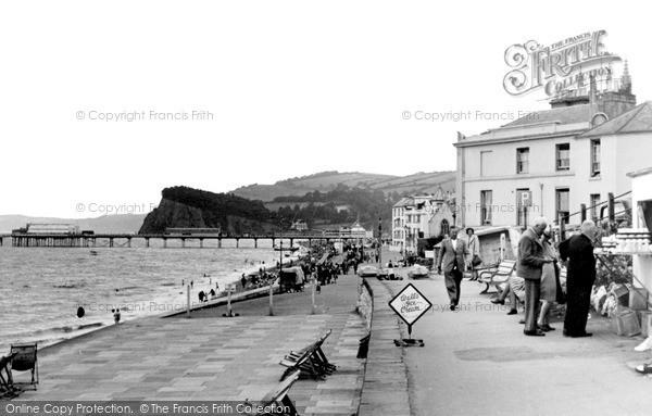 Teignmouth, the Promenade c1955