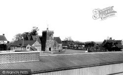 Templecombe, St Mary's Church From Railway Station c.1955