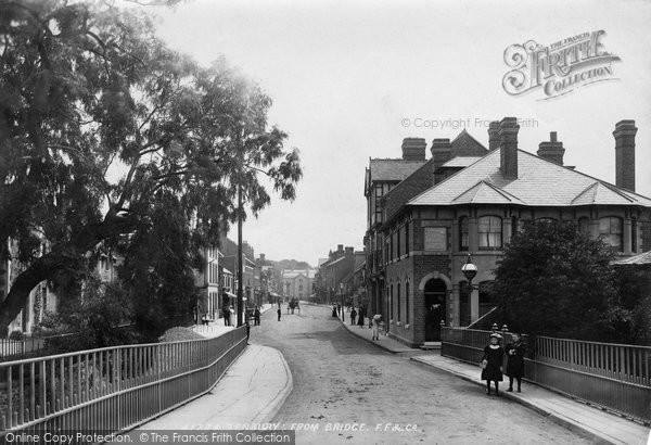 Tenbury Wells, from Bridge 1898. © Copyright The Francis Frith Collection 2012.
