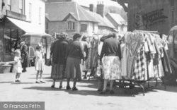 Tenbury Wells, Market Stalls c.1955
