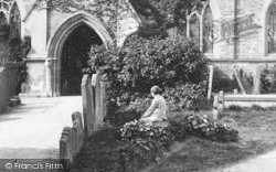 Tenbury Wells, St Mary's Church, A Boy In The Churchyard 1892