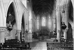 Tenbury Wells, St Michael's Church Interior 1898