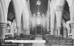 Tenbury Wells, The Collegiate Church Of St Michael And All Angels, Interior c.1955