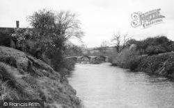 Tenbury Wells, The River Teme c.1950