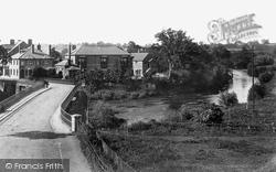 Tenbury Wells, View From Teme Bridge 1898