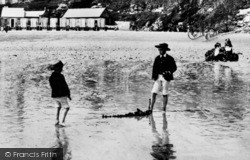 Tenby, Boys On South Sands 1890