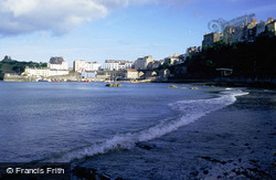 Castle Hill And Harbour From North Beach c.2000, Tenby