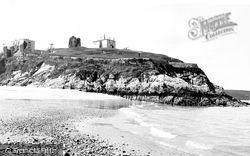 Tenby, Castle Hill From Beach 1890