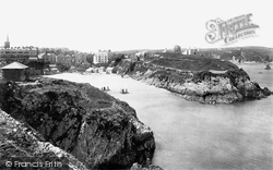 Tenby, Castle Hill From St Catherine's 1890