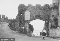 Tenby, Entrance To Castle 1890