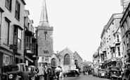Tenby, High Street 1950