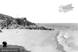 Tenby, Lifeboat Launching From Castle Sands 1890