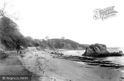 Tenby, North Beach And Goscar Rock 1893