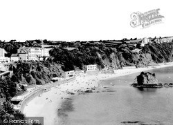 Tenby, North Beach From St Davids Hotel c.1960