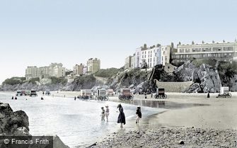 Tenby, South Sands 1890