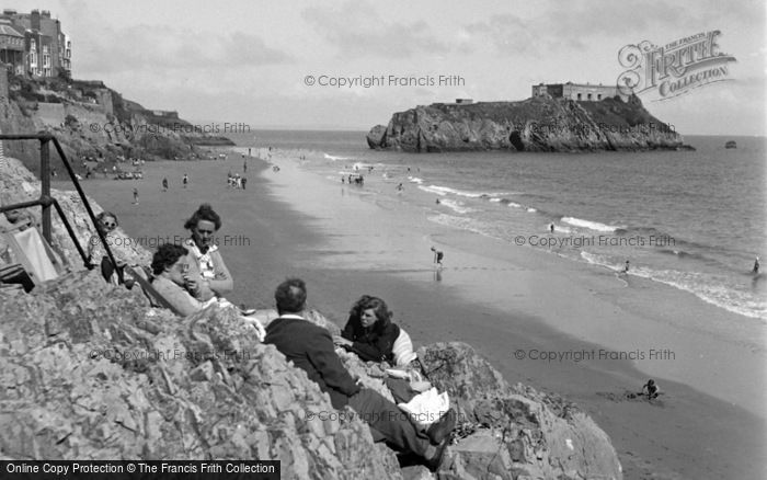 Photo of Tenby, South Sands And St Catherine's Island 1950