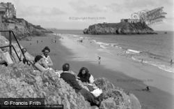 Tenby, South Sands And St Catherine's Island 1950
