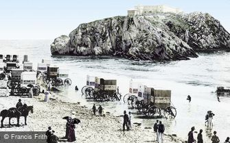 Tenby, St Catherine's Rock 1890