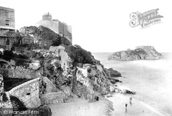 Tenby, St Catherine's Rock From Parade 1890