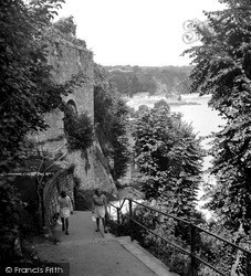 Tenby, Steps To Beach And Harbour 1950