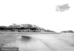 Tenby, Terraces From The Sands 1890