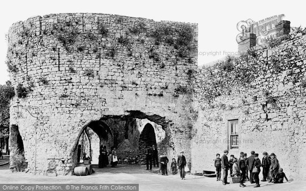 Photo of Tenby, the Five Arches 1890