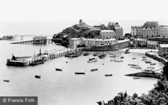 Tenby, the Harbour 1925