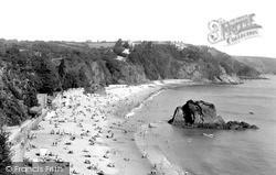 Tenby, The North Beach 1950