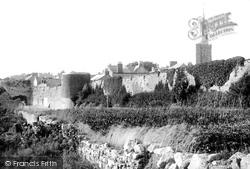 Tenby, The Town Walls And Church 1893