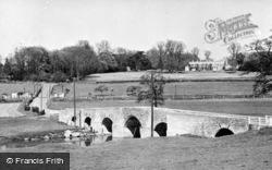 Barham Court And The Bridge c.1955, Teston