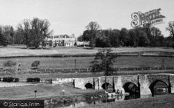 Barham Court From The River  c.1955, Teston