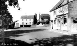 Post Office And Memorial c.1960, Teston