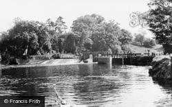 The Lock And Weir c.1955, Teston