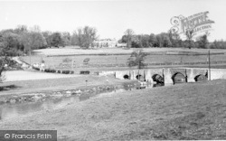 Teston, The River And Bridge c.1955