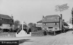 Teston, The Square And War Memorial c.1955