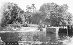 Teston, The Weir c.1955