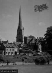 Church From Cutwell c.1955, Tetbury
