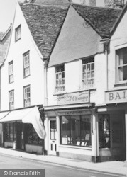 Laundry And Cleaning Shop, Market Place c.1960, Tetbury