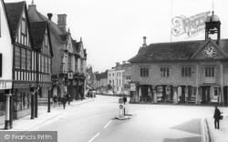 Long Street And The Market House c.1965, Tetbury